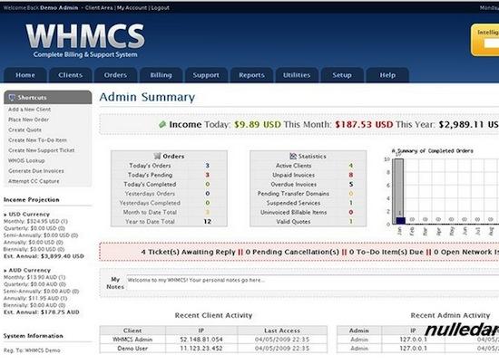 WHMCS Version 5.2